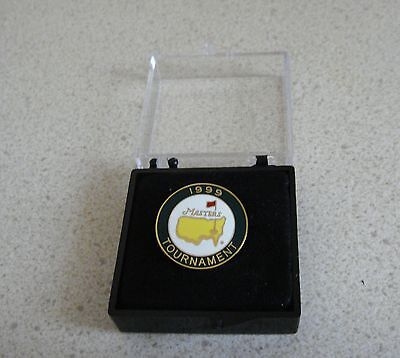U.s. Masters 1999  Won By Jose Olazabal Stemmed Golf Ball Marker & Case