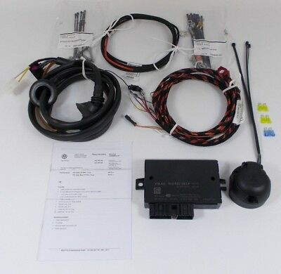 New Genuine Vw Caddy 13 Pin Towbar Towing Electrics Wiring Kit + Ecu
