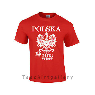 T-Shirt Polska Poland- World Cup 2018 Russia Football Supporters Unisex Kids Top