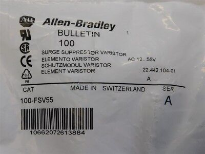 Allen Bradley 100-FSV55 Surge Suppression Varistor NEW 12...55VAC / 12...77VDC