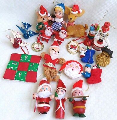 Antique Christmas Ornaments >> Vintage Antique Christmas Ornaments Lot German Santa Birds Plastic