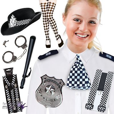 Copper WPC Props Women Set Fancy Dress Costume Police Kit Hen Party Outfit