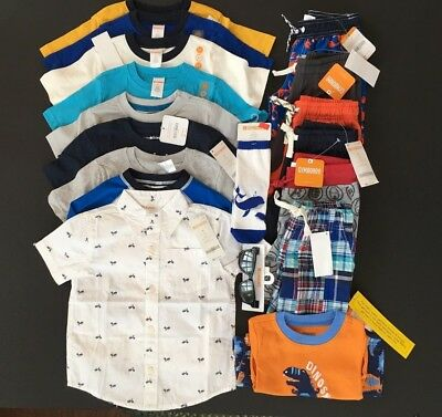 Nwt $334 Retail Gymboree Boys Size 3T Huge Lot Outfits Summer Spring