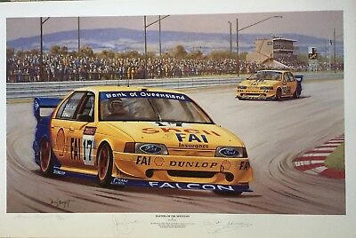 Bathurst 1994. Masters Of The Mountain. Signed Print. Dick Johnson Ford. DJR