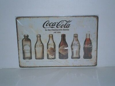 CCMS3 Coca - Cola  6 Diff. Bottles Metal Sign 20 cm H X 30 cm W New
