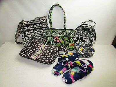 Vera Bradley Mixed Lot of 6 Purses/Slippers/Jewelry Box/Lunchbox/Varied Designs