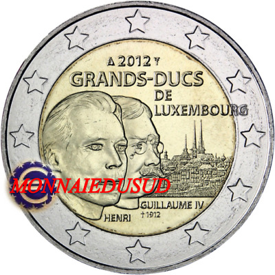 2 Euro Commémorative Luxembourg 2012 - Grand Duc Guillaume IV