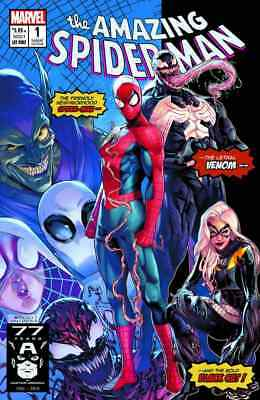 AMAZING SPIDERMAN 1 vol 5 2018 JAMAL CAMPBELL 3000 PRINT VARIANT NEW MUTANTS 98