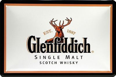 Blechschild 20x30 cm Glenfiddich Single Malt Scotch Whisky Whiskey Metall Schild