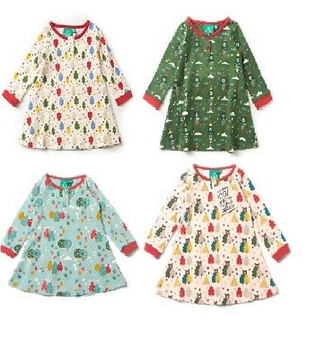 Little Green Radicals Organic Playaway dress Rocket To Moon Magic Forest Bear