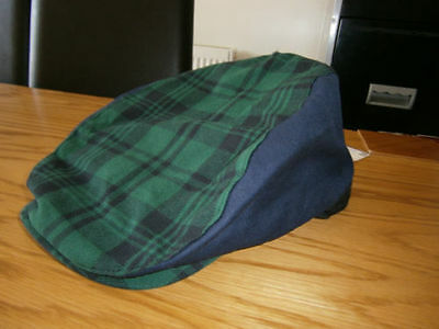 Gents St Andrews Black Watch Tartan Style Flat Cap Golf Rrp £18 Free P+P