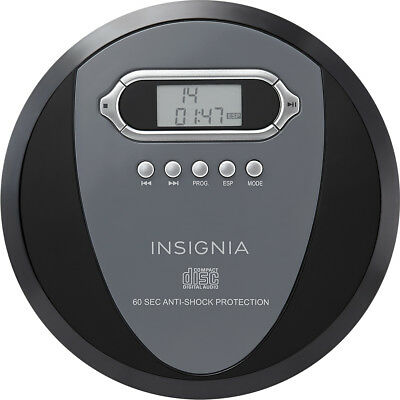 Insignia- Portable CD Player - Black/Charcoal
