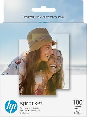 "HP - Sprocket ZINK(R) Photo 2"" x 3"" 100-Count Paper - White"