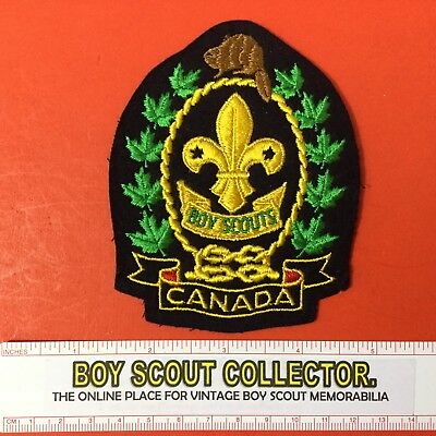 Boy Scouts Canada Crest Patch FREE SHIPPING