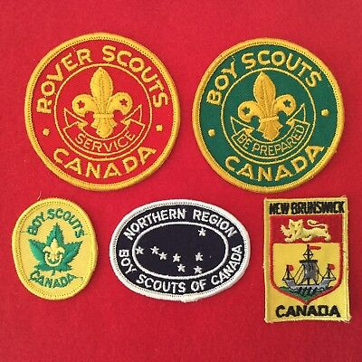 Boy Scout Canada Patches Badges 5 Rover Scouts, Northern Region, New Brunswick