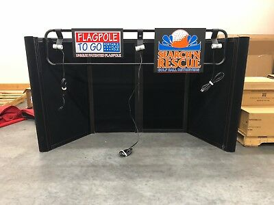 3.5' Pop-Up Trade Show Display, SoloPanel, 3 Lights, Black, USED