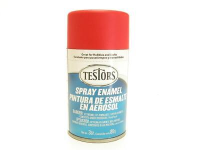 Testors Spray Enamel Paint Flat Red 3oz Jar 85g 1250 8 76 Picclick