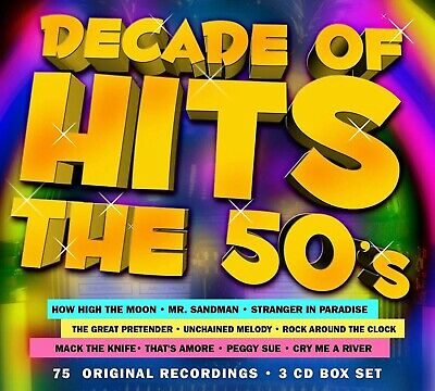 THE FIFTIES (50's) * 75 Greatest Hits * New 3-CD Boxset * All Original 50's Hits