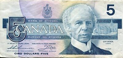 Bank of Canada Five Dollars Bank of Canada  1986
