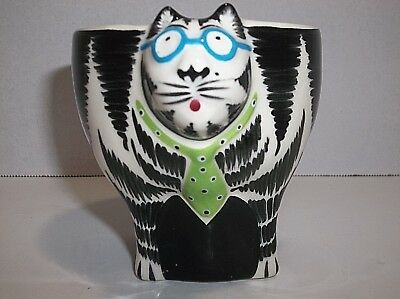 Tom Hatton Black And White CAT Coffee TEA Cup Signed