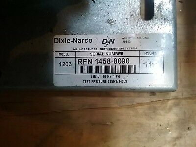 Used for only one year!  Dixie Narco refrigeration system for soda vendor.