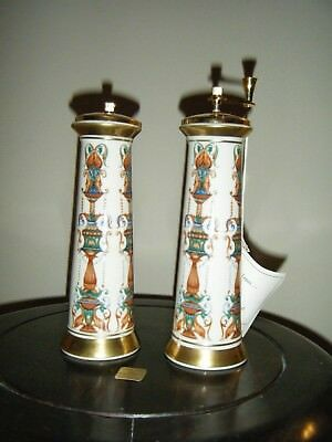 Beautiful Lenox China Pepper Mill And Salt And Pepper Shaker Set Never Used