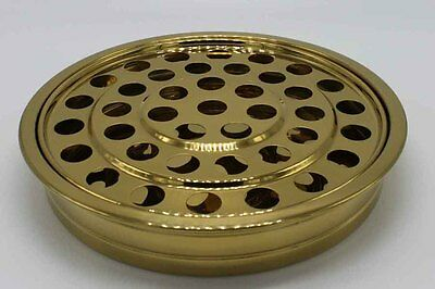 Brass Tone ---5 Stainless Steel Communion Tray set