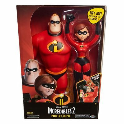 """NEW Incredibles 2 Power Couple 12"""" Figures Pack"""