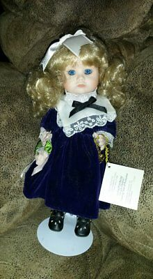 """Heather, 9-1/2"""" Marie Osmond, All Porcelain, Miracle Children Doll"""