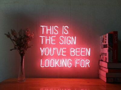 New This Is The Sign You've Been Looking For Neon Sign Handmade Visual Artwork