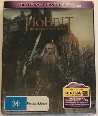 The Hobbit: The Desolation Of Smaug Steelbook - Aus Excl Ltd Edn Blu-Ray OOP