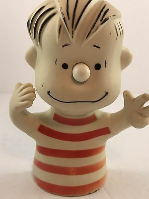 """AVON LINUS 1952 Toy Vintage RUBBER WITH SUCTION CUP Bath Toy Peanuts 6"""""""