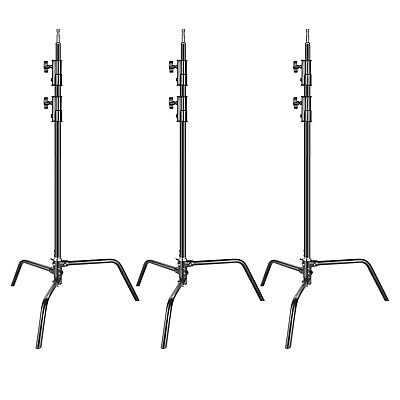 Neewer 3-pack Heavy Duty Aluminum Alloy C-Stand Adjustable 5-10 feet Light Stand