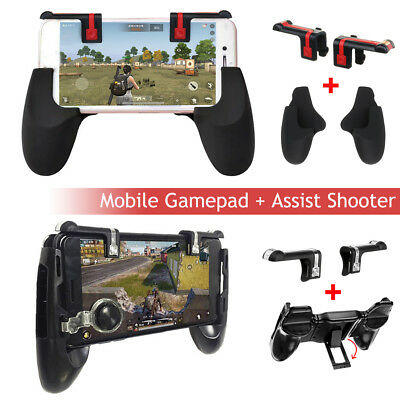 Mobile Game Shooter Trigger Button + Gamepad Set For PUBG Fortnite Controller AU