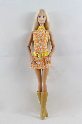Orange Fashion Princess Party Dress/One-piece/Gown For Barbie Doll
