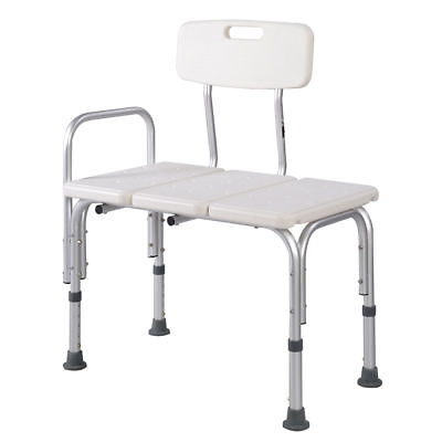 Adjustable Shower Chair Seat Stool Bathroom Bath Transfer Bench Aid Aluminium AU