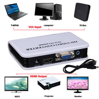 LK _ JF_ AUDIO VGA a HDMI USCITA 1080P HD HDTV Convertitore video adattatore