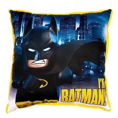 Lego Batman Movie Hero Square Cushion Reversible Kids Boys Superhero