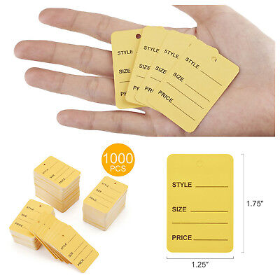 1000pcs Marking Perforated Price Tags Coupon Clothing Labels Merchandise Sales