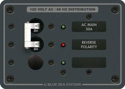 Blue Sea Systems 19052M Blue Sea Systems 8029 AC Main +1 Position Breaker Panel