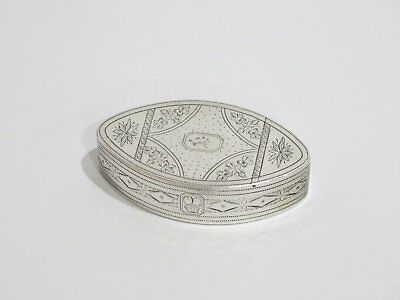 """3"""" Sterling Silver Gilded Interior Antique English Cigar-Shaped Floral Snuff Box"""