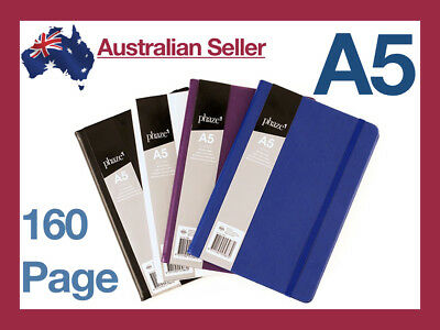 A5 Lined Paper/PU Leather/Elastic/Vintage Diary Notebook/Journal/Hardcover Blue