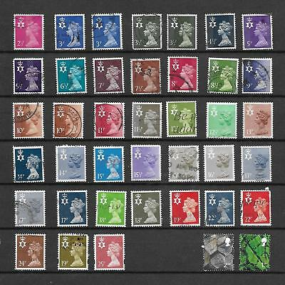 1971/93 Qeii Northern Ireland Excellent Selection Of 40 Vfu Different Stamps