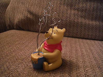 """WINNIE THE POOH 6"""" Tall Heavyweight Ceramic-type 3 Picture Holder Stand Frame"""