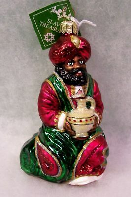 New SLAVIC TREASURES GLASS ORNAMENT - KING WITH PITCHER (Nativity) 2002