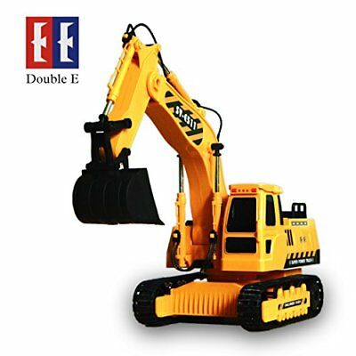 DOUBLE  E 8 Channel Full Functional RC Excavator, 1:20 Scale RC Remote Control C