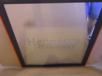 Rare Hennessy Etched Liquor Bar Mirror Sign Big Sale Read Description Man Cave