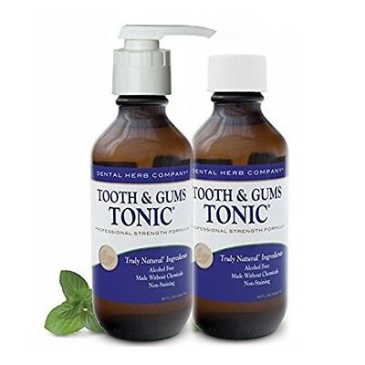 Dental Herb Company Tooth and Gums Tonic - Pack 2 with a FREE PUMP