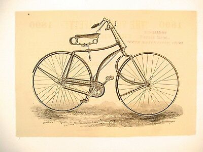 1890 Advertising Flyer for the Victor Safety Bicycle With CT Merchant Stamp