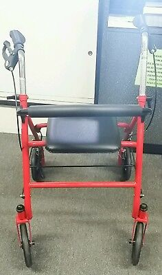 Drive Red Rollator Walker Adult 4 Wheels 10257RD LOCAL PICK UP ONLY 68086-1